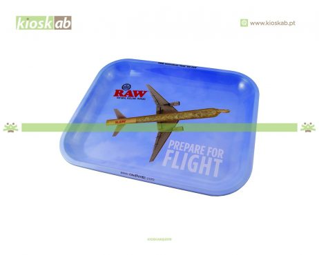 Raw Metal Rolling Tray Flying