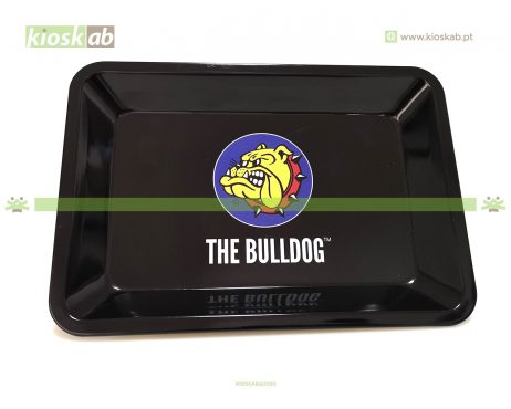 The Bulldog Metal Rolling Tray Logo Small