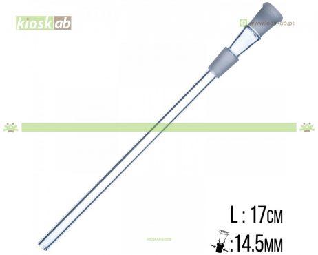 Sopeira Bullet Vidro 14.5mm x 17cm
