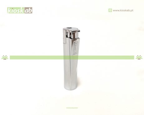 Clipper Large Metal Electronic Silver Brilho